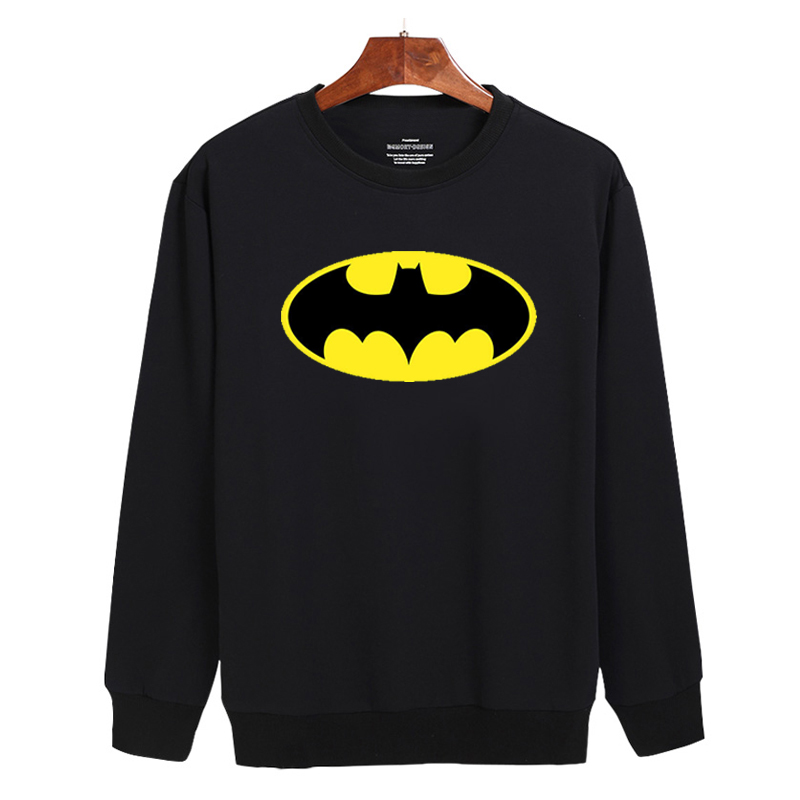 Fashion Batman Symbol 2017 Hoodies Men Hoody Sweatshirts For Classic Mens Hoodies And Sweatshirts 3xl Black/white,cotton