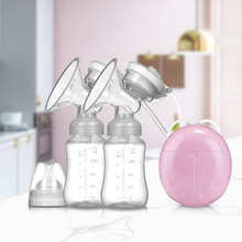 Electric Breast Pump Powerful Double USB Intelligent Automatic Infant Milk Suction Pumps With Bottle For Mothers