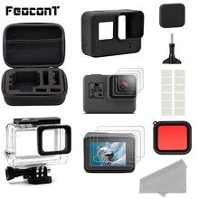 Actie Camera Accessoires Voor GoPro Hero 7 6 5 Waterproof Case Reizen Screen Protector Lens Filter Siliconen Beschermhoes Tas