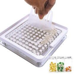 Placa de enchimento manual da cápsula do encapsulador da máquina de enchimento #0 da cápsula de 100 furos
