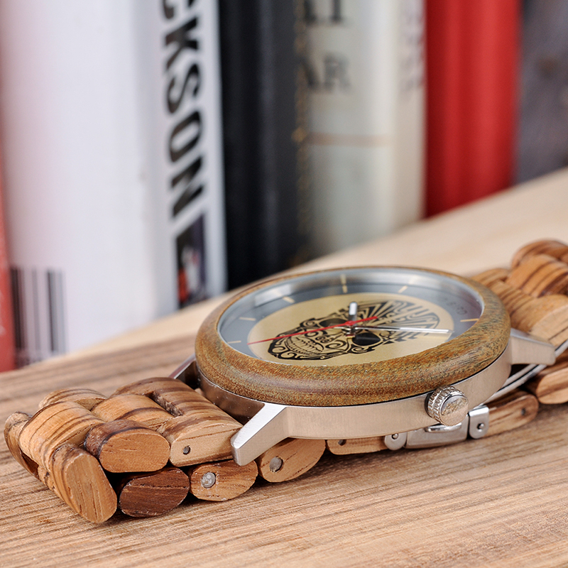 BOBO BIRD Timepieces Mænds Wooden Watches Fashion Wood Nyt Design - Mænds ure - Foto 5