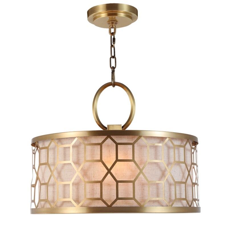 Europe Lustre moderne Lustre lumière tissu noir or ombre chambre suspension luminaire salle à manger suspension Luminaria