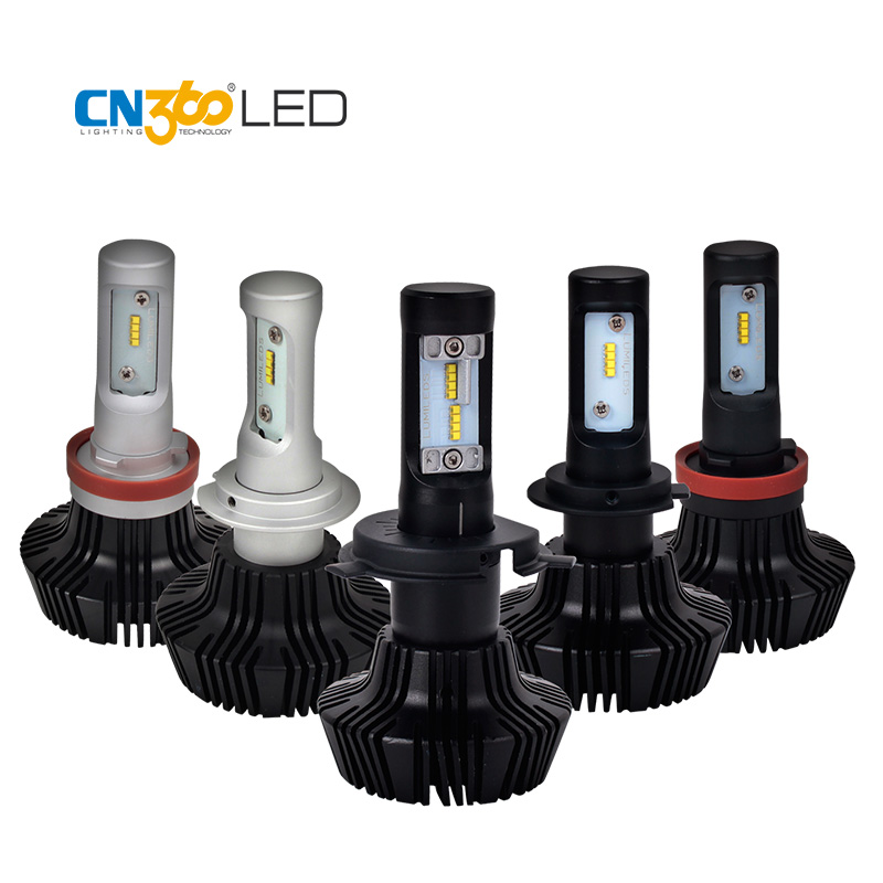CN360 2PCS 8000LM For ZES chips Car LED Headlight Conversion Kit Hi-Lo Beam H4 9003 H7 H8 H9 H11 H13 9004 9005 HB3 9006 HB4 9007 car led headlight bulbs all in one h7 h11 h1 hb3 hb4 9005 9006 55w 8000lm h4 h13 9007 hi lo waterproof high low beam lights