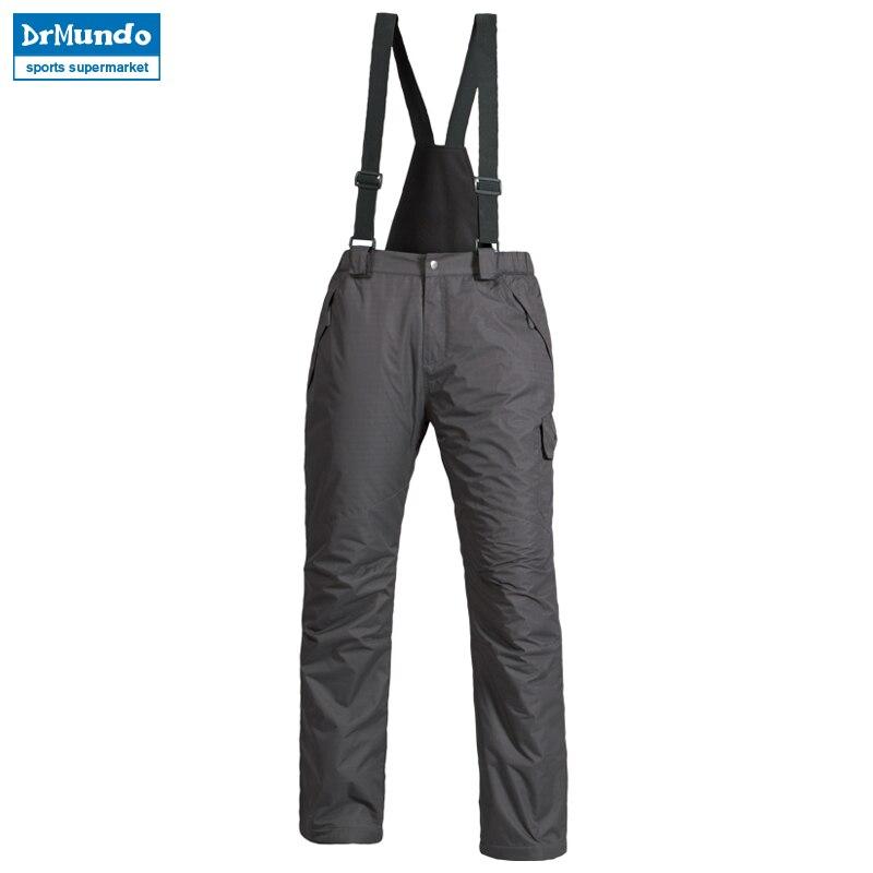 16644660bd6 New Outdoor Sports Fleece Men Ski Pants Suspenders Windproof Waterproof Warm  Thicken Winter Snow Snowboard Trousers