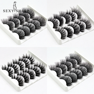 Image 2 - SEXYSHEEP 5Pairs 3D Faux Mink eyelashes False Eyelashes Long Lashes Wispy Makeup Beauty Extension Tools Wimpers 13 Styles