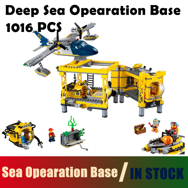 Compatible with lego City Model Building Blocks toys 02088 Deep Sea Opearation Base Series 60096 Educational DIY toys & hobbies