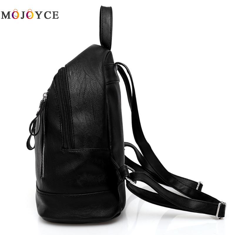 Women Backpacks Hot Sale Fashion Causal Bags High Quality Bead Female Shoulder Bag Pu Leather Backpacks For Girls #4