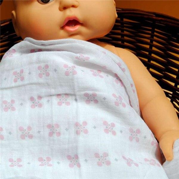 De calidad superior mantas muselina del bebé gasa doble tela ...