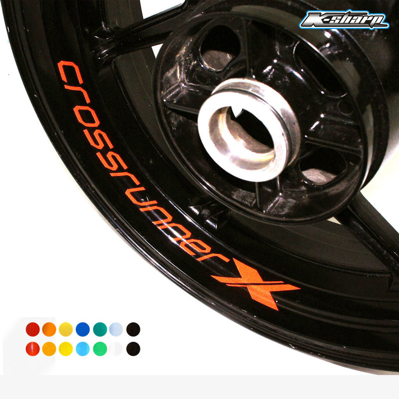 8 X CUSTOM INNER RIM DECALS WHEEL Reflective STICKERS STRIPES FIT HONDA Crossrunner X