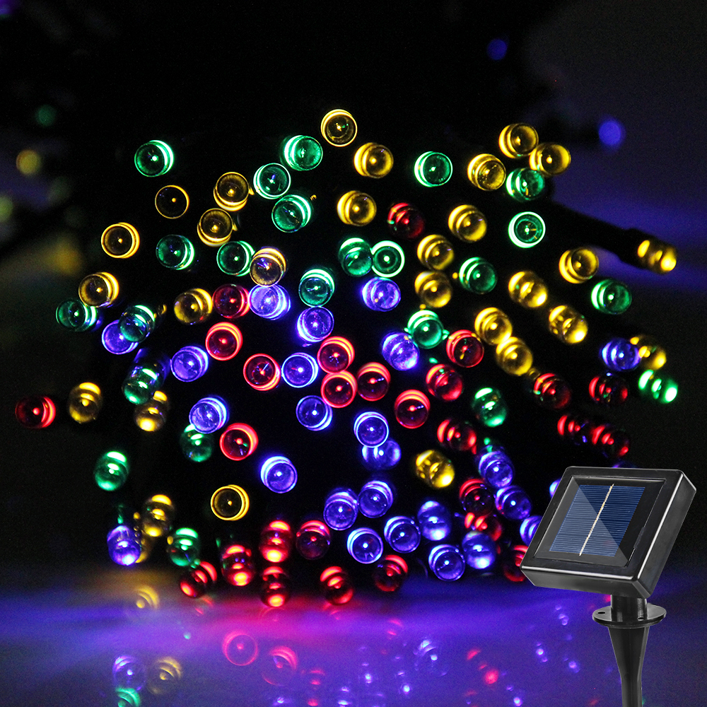 Outdoor Party Lights Screwfix: 20M Waterproof LED String Lights Outdoor LED Solar Light