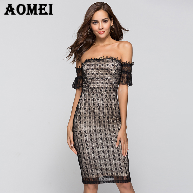 37e60892a021 Women Tube Dress Black Lace Backelss Summer New Sexy Tight Bandage Dresses  Evening Party Clubwear Nightout Female Vestidos Robes