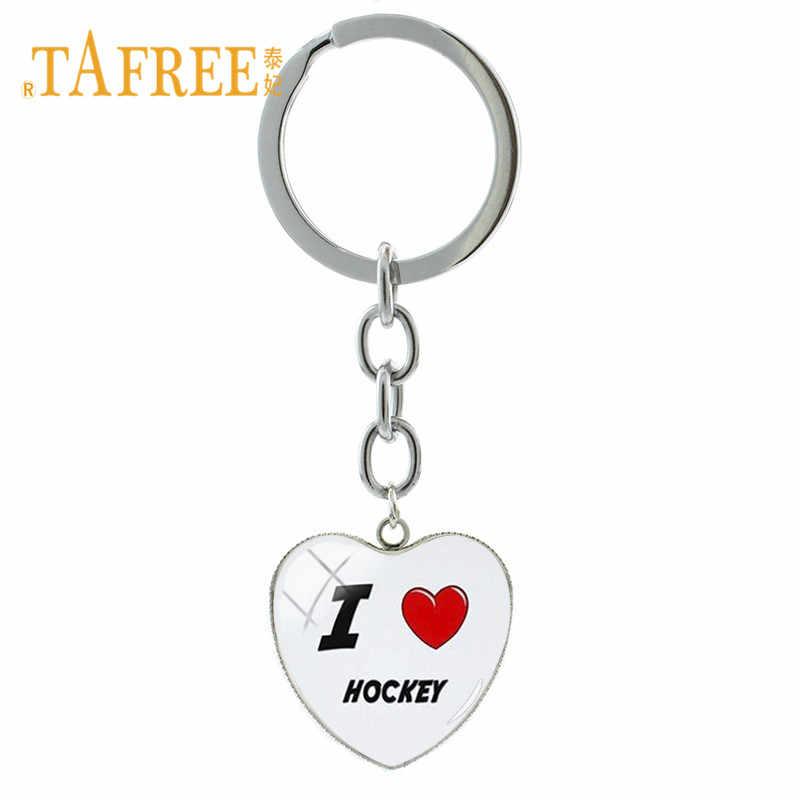 ... TAFREE 2018 New Charm Ice Hockey Shoes Key Chain Heart Pendant Hockey  Stick Key Ring Keychain ... b53f1d0c3
