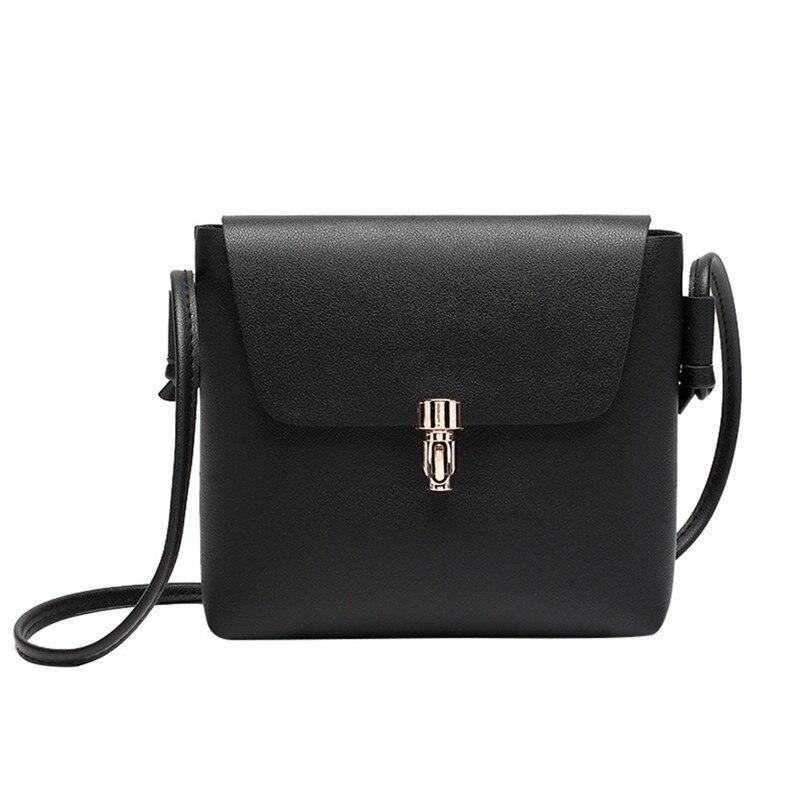 Fashion Women Cover Hasp Crossbody Bag Girls Leather Messenger Bag Phone Coin Mini Zipper Shoulder Bags 2018 bolsa feminina S