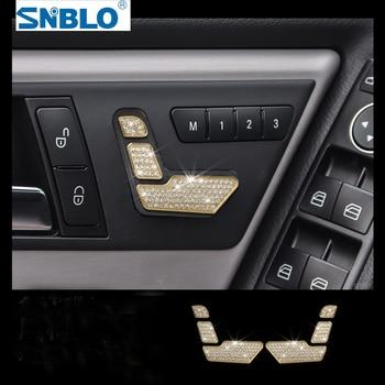 6pcs Seat Button Trim For Mercedes Benz C Class C180 C200 C260 W204 2010-2013 Car Accessories