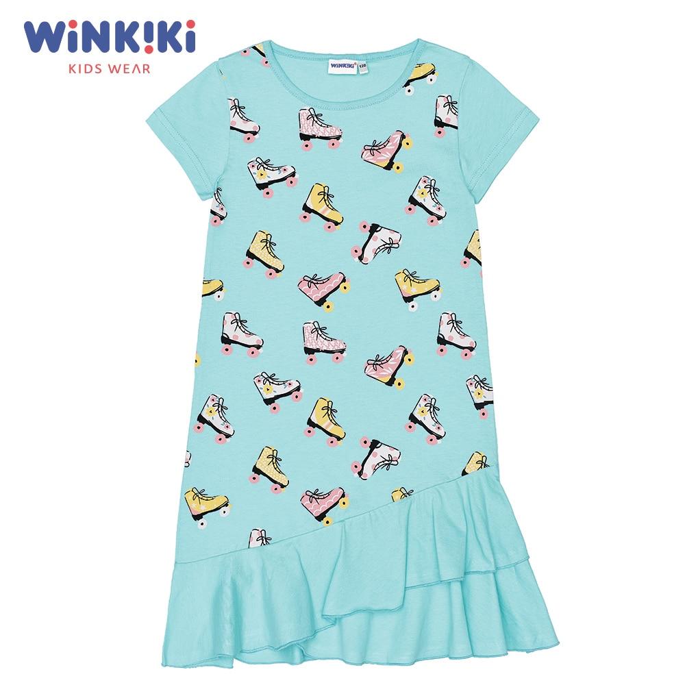 Dresses Winkiki WJG91403 children clothing girls kids girl Cotton Sky Blue Casual цена