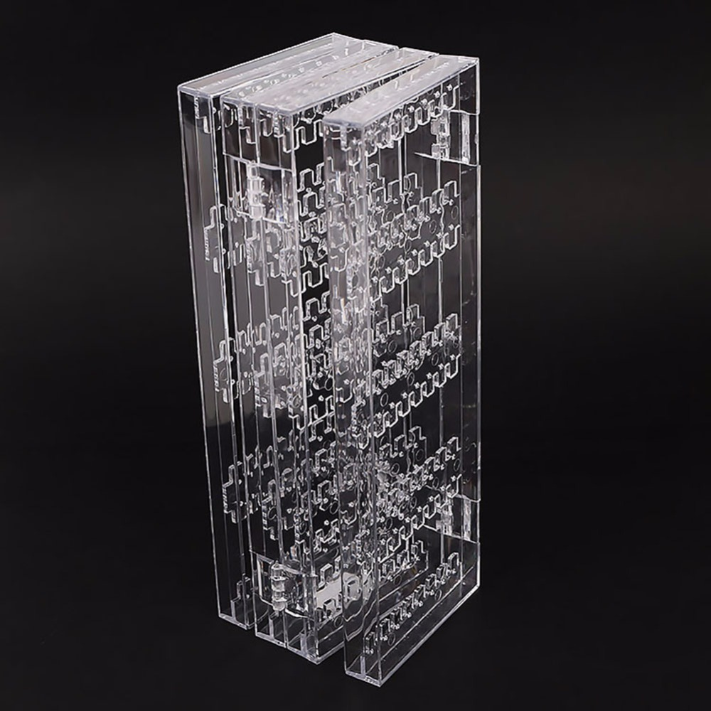 Clear Acrylic Earrings Ear Studs Necklace Multifunctional Plastic Folding  Screen Earring Jewelry Display Stand Holder  241349 e9326180cd6b