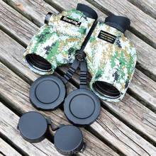 лучшая цена HD Marine Binoculars boshile 7X50 Range finder Compass Camouflage Militar Telescope Eyepiece Waterproof Nitrogen hunting color