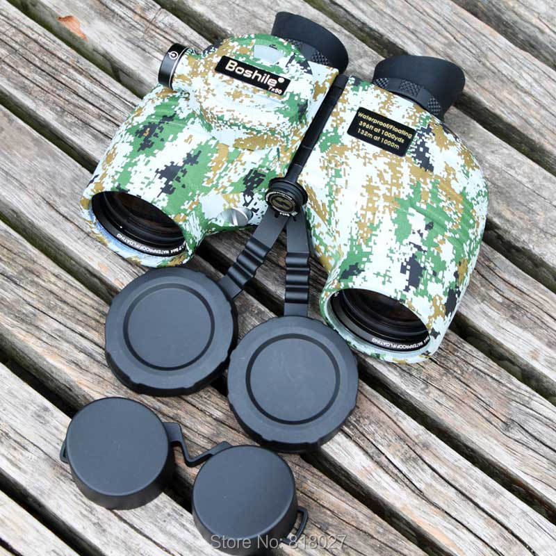 Military HD Marine Binoculars boshile 7X50 Rangefinder Compass Telescope Eyepiece Waterproof Nitrogen hunting Camouflage color military waterproof binoculars boshile 10x50 navy telescope binocular with rangefinder and compass fully multi coated lens bak4