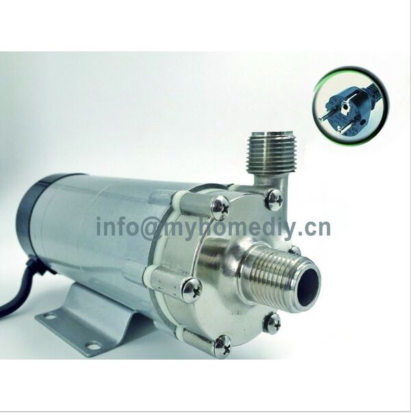 Magnetic Drive Pump 15R With Stainless Steel Head homebrew with 250V European Plug