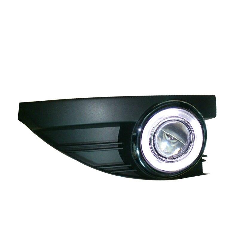 eOsuns Innovative COB angel eye led daytime running light DRL + halo Fog Light + Projector Lens for Renault Fluence ownsun innovative super cob fog light angel eye bumper cover for skoda fabia scout