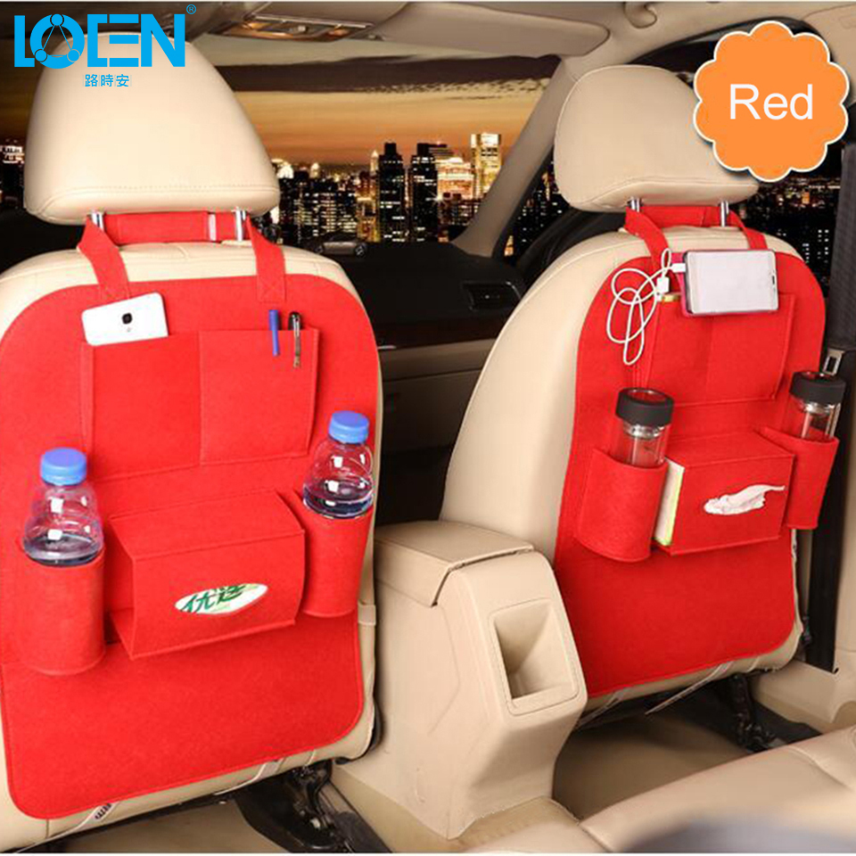 High Grade Car Seat Organizer Universal Tæpper Multi Pocket Isolation Autosæde Tilbage Humanized Opbevaring Bag Felt Omslag