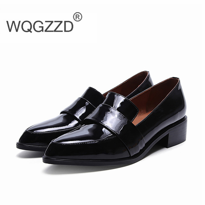 2019 Women Flat Shoes Loafers Genuine Leather Comfortable Shoes Oxford Shoes For Women Chaussure Femme