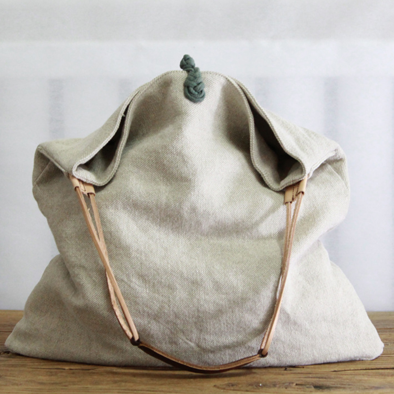 Women Linen Slouch Bag 2019 Casual Over Shoulder Bag Diaper Big Capacity Designer Chinese Old Style