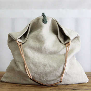Women Linen Slouch Bag 2019 Casual Over Shoulder Bag Diaper Big Capacity Designer Chinese Old Style Tribal Ethnic Messenger Bag - Category 🛒 Luggage & Bags