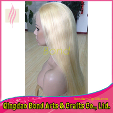 2016 grade 7a top quality 613 blonde full lace wigs blonde virgin straight full lace human hair wigs/half wig 130 density