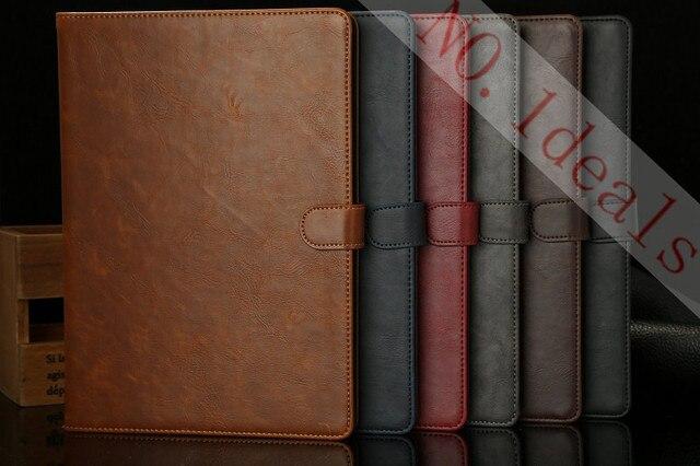 Nuevo caso de cuero para apple ipad air estuche, cubierta folio protector de la piel para ipad 5, crazy horse patrón delgado para ipad air
