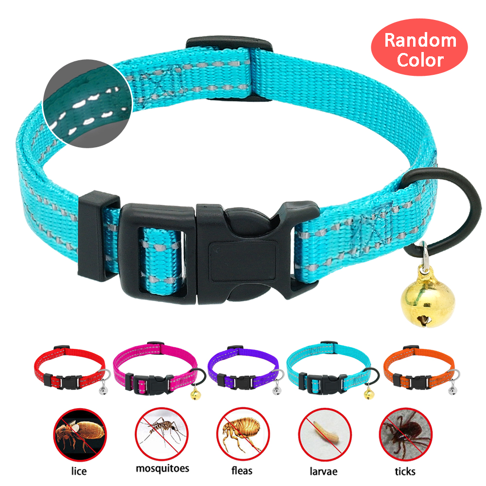 Flea And Tick Collar Reflective Dog Cat Flea Collar Anti Lice Pest Collars Kill Lice Parasite Deworming For Small Dog Cat