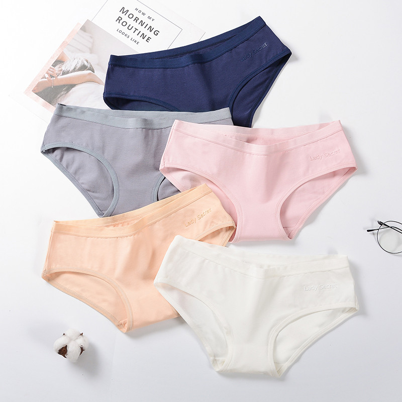 Women Underwear Sexy   Panties   Briefs Girl Lingeries Shorts Underpant Solid color Cotton   Panty   Female women's pants