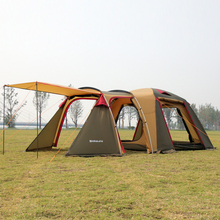 Fmaily Camping Tent Multiplayer Outdoor Aluminum Pole Waterproof with a bedroom and a living room for Camping & Hiking