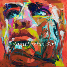 High quality Francoise Nielly Designers Hand Painted Palette knife Abstract Oil Painting Canvas Home Living room face Fine Art