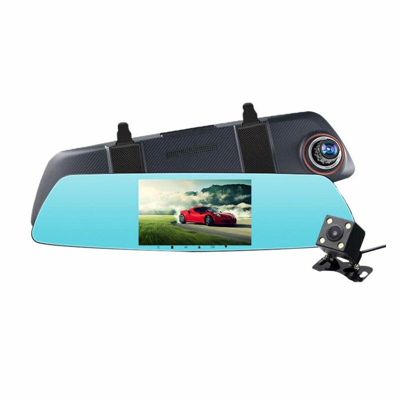 DVR Video-Recorder Parking-Camera Car Rear-View-Mirror 1080P AVIN HD 5inch Digital High-Brightness