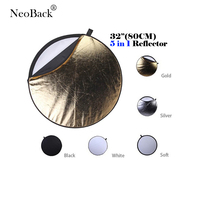 NeoBack 32 80cm 5 In 1 New Portable Collapsible Light Round Photography Photo Reflector For Studio