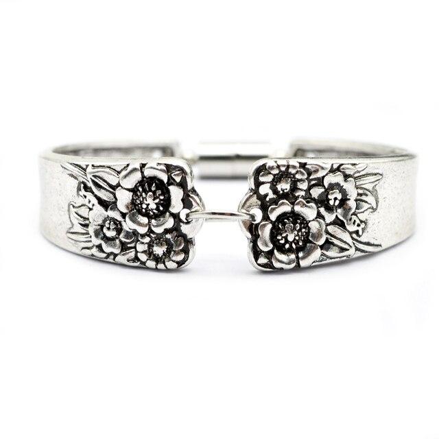 10pcs Vintage Spoon Bracelet Brangle Antique Silver Sunflower Jewelry Handmade Bt20