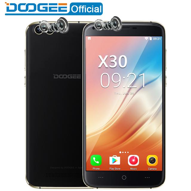 "DOOGEE X30 Mobile phone Quad Camera 2×8.0MP+2×5.0MP Android 7.0 3360mAh 5.5"" HD MTK6580A Quad Core 2GB RAM 16GB ROM Smartphone"