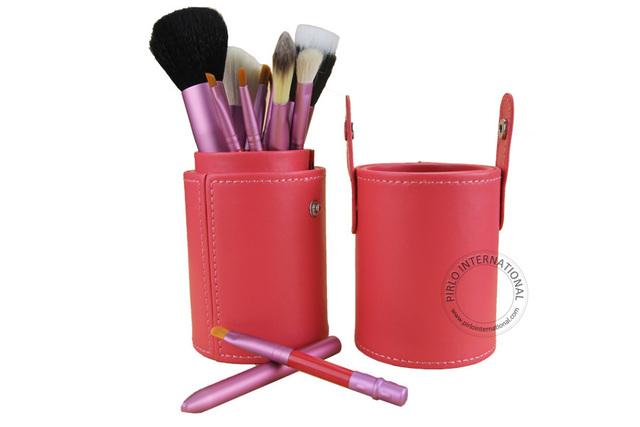 12 unids Conjunto Cosmético Profesional Estética Facial maquillaje Pincel Kit Brochas de Herramientas de Cepillo de Sombra de Ojos en polvo de Color Rosa