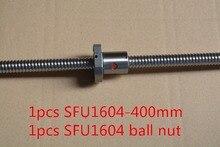 Диаметр 16 мм Шариковый винт RM1604 SFU1604 длина 400 мм плюс 1604 шариковая гайка с ЧПУ DIY Резьба машины 1 шт.