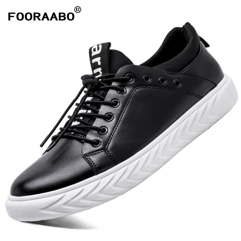 Casual Homme 2018 Non De Sneakers slip Hommes Mâle Mode En black Black Plat White Noir Caoutchouc Cuir Printemps Marque Chaussures aEraPpwq