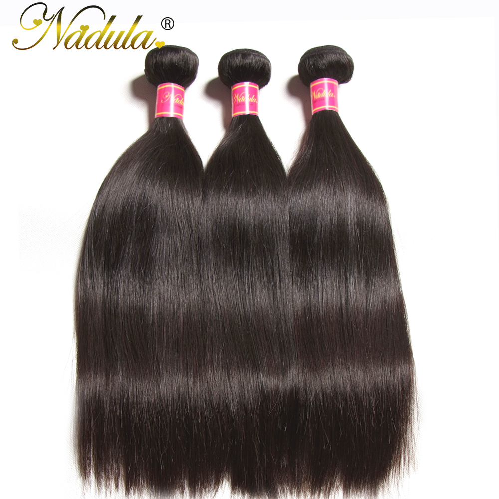 Nadula Straight Hair 3PCS LOT Brazilian Hair Weaves 8 30inch 100 Human Hair Extensions Natural Color