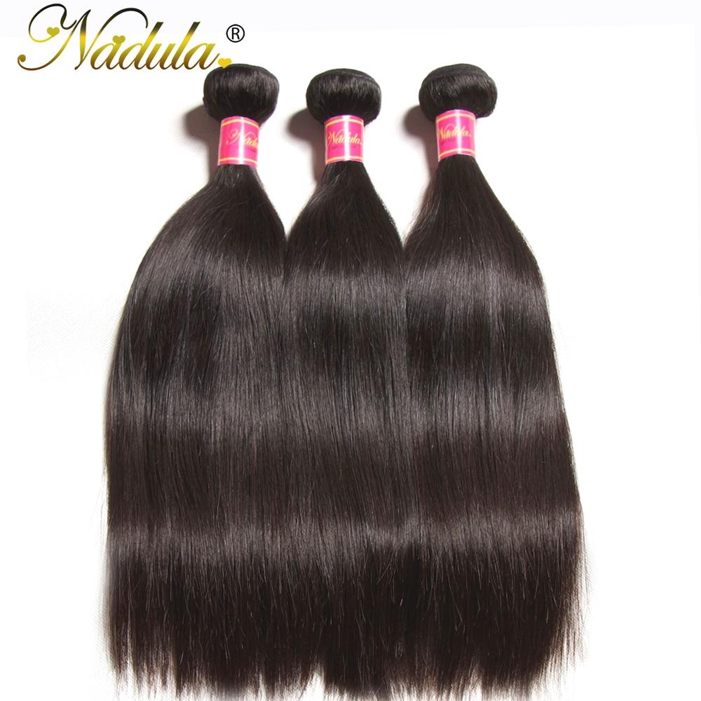 Nadula Straight Hair 3PCS LOT Brazilian Hair Weaves 8 30inch 100 Human Hair Extensions Natural Color