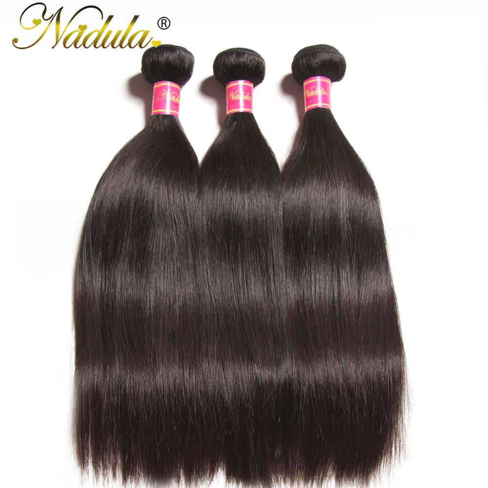 Nadula прямые волосы 3 шт./лот, бразильские волосы, 8-30 дюймов, 100% человеческие волосы для наращивания, натуральный цвет, Remy, пучки волос, предложения