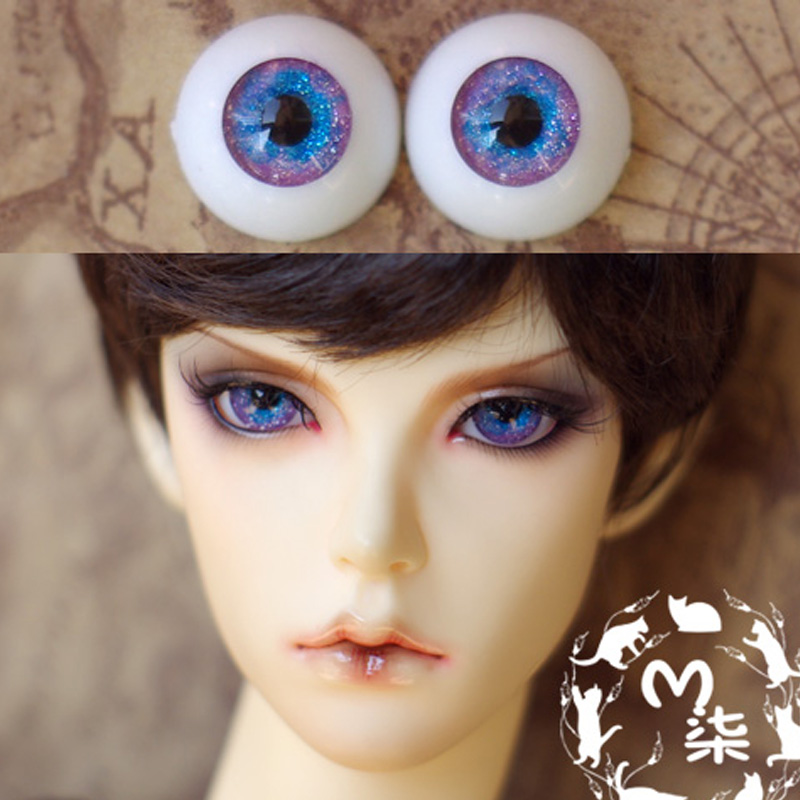 1Pair Doll Accessories Acrylic Round Eyeball BJD Doll Eyes 12MM 14MM 16MM retro tinplate metal motocross models collection classic handmade arts and crafts dirt bike model