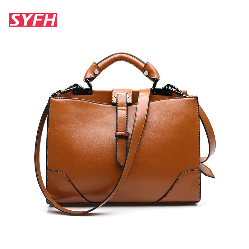 ФОТО 2015 New Fashion Oil Pull Leather bags Tote Women Leather Handbags Women Messenger Bags Shoulder Bags Hot Vintage bags popular