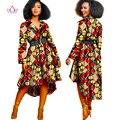 2017 Осень Африканских Dashiki традиционный батик женщины пальто одеяние longue femme печать Базен Riche женщины пальто плюс размер 5xl BRW WY1051