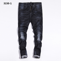 Distressed Black Jeans Uomo Knee Designer Stretch Jeans Men Pants Mid Stripe Brand Mens Ripped Jeans Masculino 3150-1