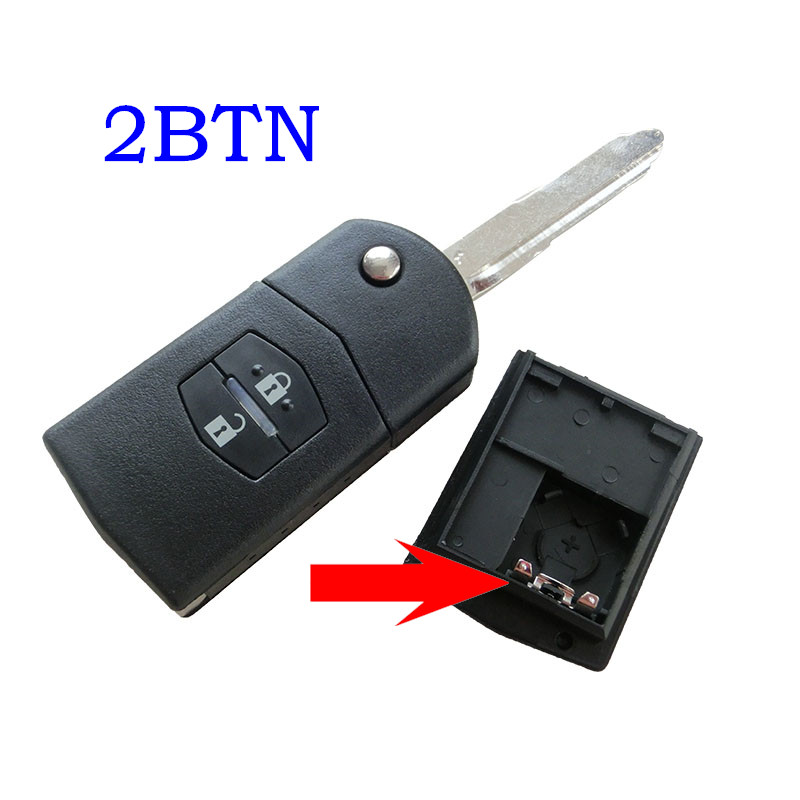 High Quality 2 Buttons Flip Remote Car Key Case for Mazda 2 3 5 M6 Replace Original Flip Key Shell For Mazda image