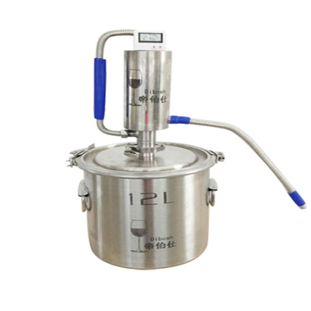 304 SUS Nouveau Diy Distillateur Alambic Moonshine L'alcool Reste D'eau Inox Vin Huile Essentielle Kit de Brassage